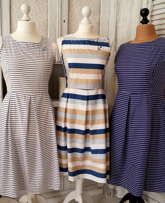 Maritimes 50er Jahre Kleid