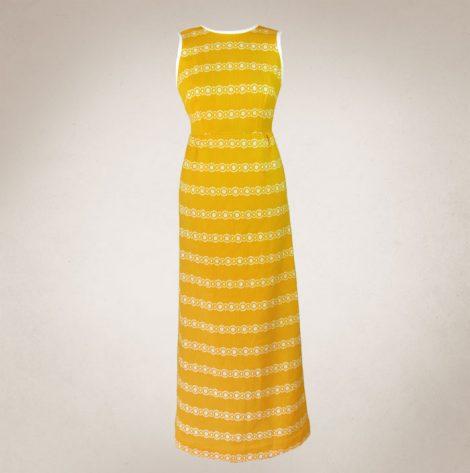 Frau Lux Vintage – Sommerkleid gelb mit Rückenausschnitt