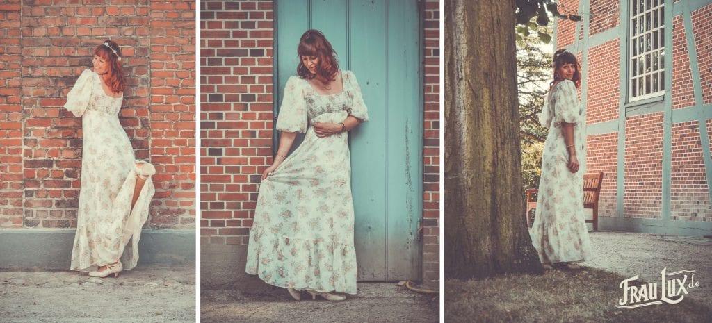 Frau Lux Vintage, Vintage Hochzeitskleid, Landhauskleid, Kleid Countrystil, Vintage Kleid Hochzeit
