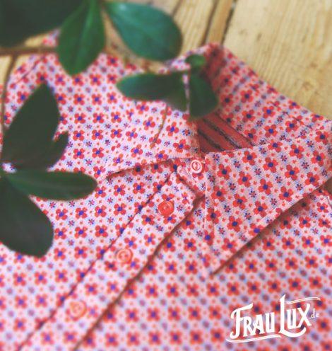 Frau Lux Vintage – ärmellose Bluse im 60er Muster