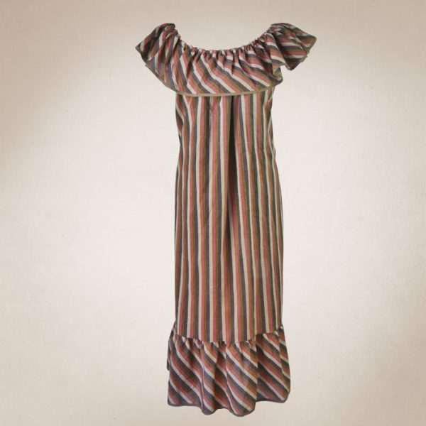 Frau Lux Vintage, gestreift, Bardotkleid, original Vintage