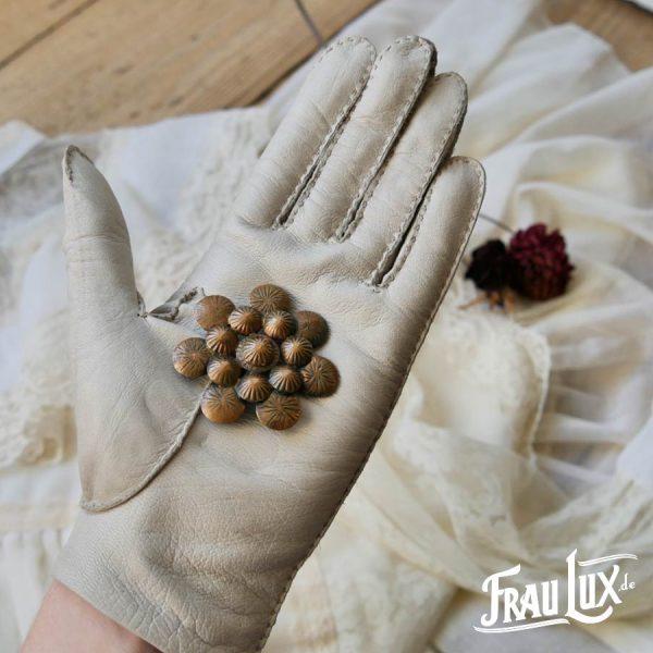 Frau Lux Vintage – Brosche Bronze-Blume
