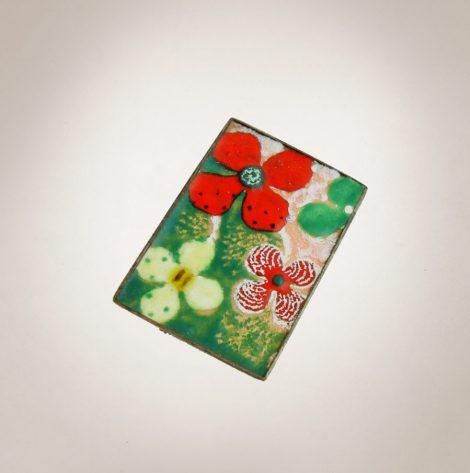 Frau Lux Vintage – Brosche Blumenmuster
