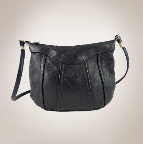 Frau Lux Vintage – Leder Damenhandtasche dunkelblau