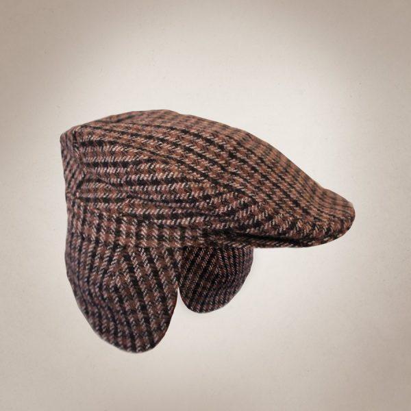 Frau Lux Vintage – 20er Jahre Flatcap kariert mit Ohrenschützern