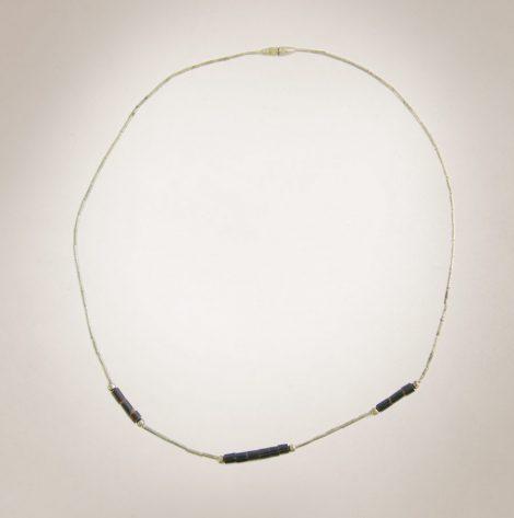 Frau Lux Vintage – kurze Halskette silber,braun