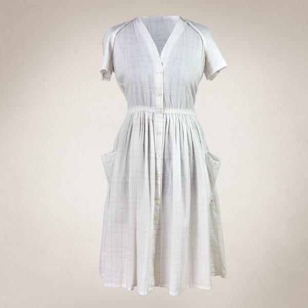 Frau Lux Vintage – weißes Hemdblusenkleid