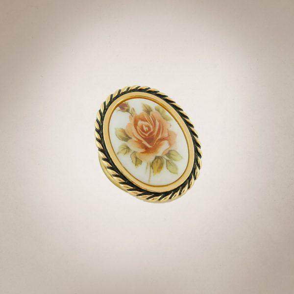Frau Lux Vintage – Brosche mit Rosenmotiv