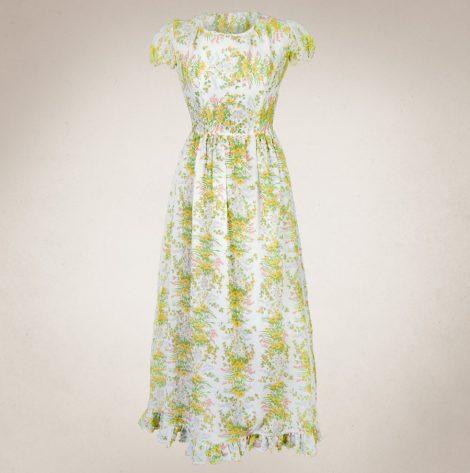 Frau Lux Vintage – langes Sommerkleid mit Puffärmlen