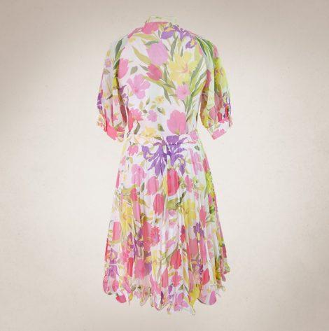 Frau Lux Vintage – Vintagesommerkleid luftig mit rosa Blüten