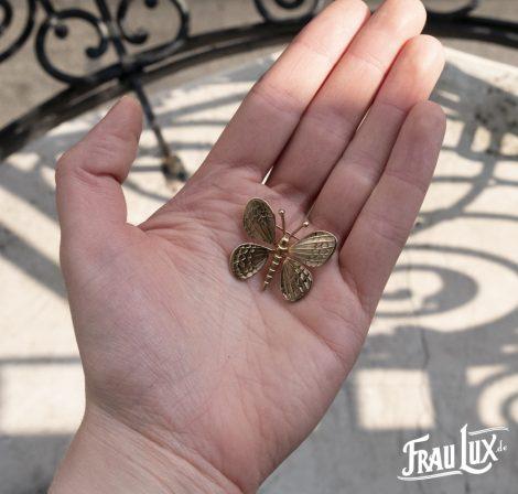 Feine goldene Schmetterlingsbrosche
