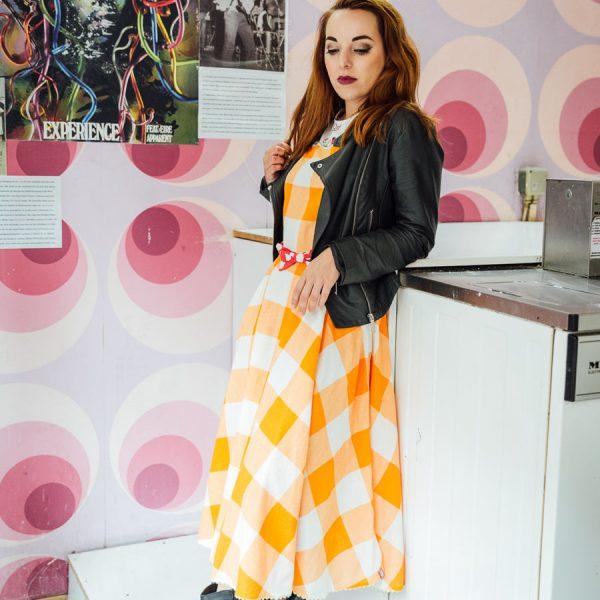 Frau Lux Vintage – verspieltes Bamikleid mit Puffärmeln