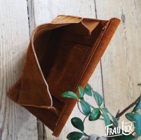 Frau Lux Vintage – Wildlederhandtasche