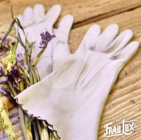 Frau Lux Vintage – Baumwollhandschuhe zart rosa