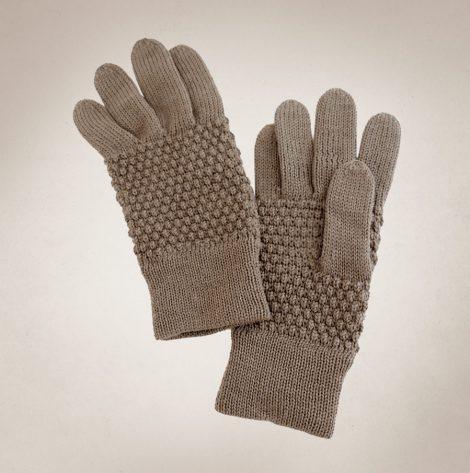 Frau Lux Vintage – eierschalenfarbend gehäkelte Damenhandschuhe