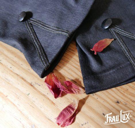 Frau Lux Vintage – Damenhandschuhe schwarz, original Vintage