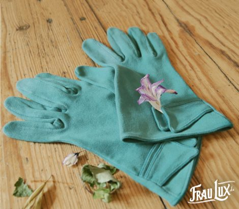 Frau Lux Vintage – Baumwollhandschuhe petrol
