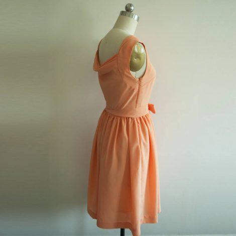 60er Jahre Kleid inspiriert von Audrey Hepburn coral