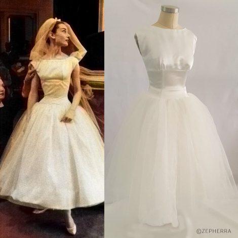 """Maßanfertigung im Movielook – Hochzeitskleid aus dem Film """"Funny Face"""" von 1957"""