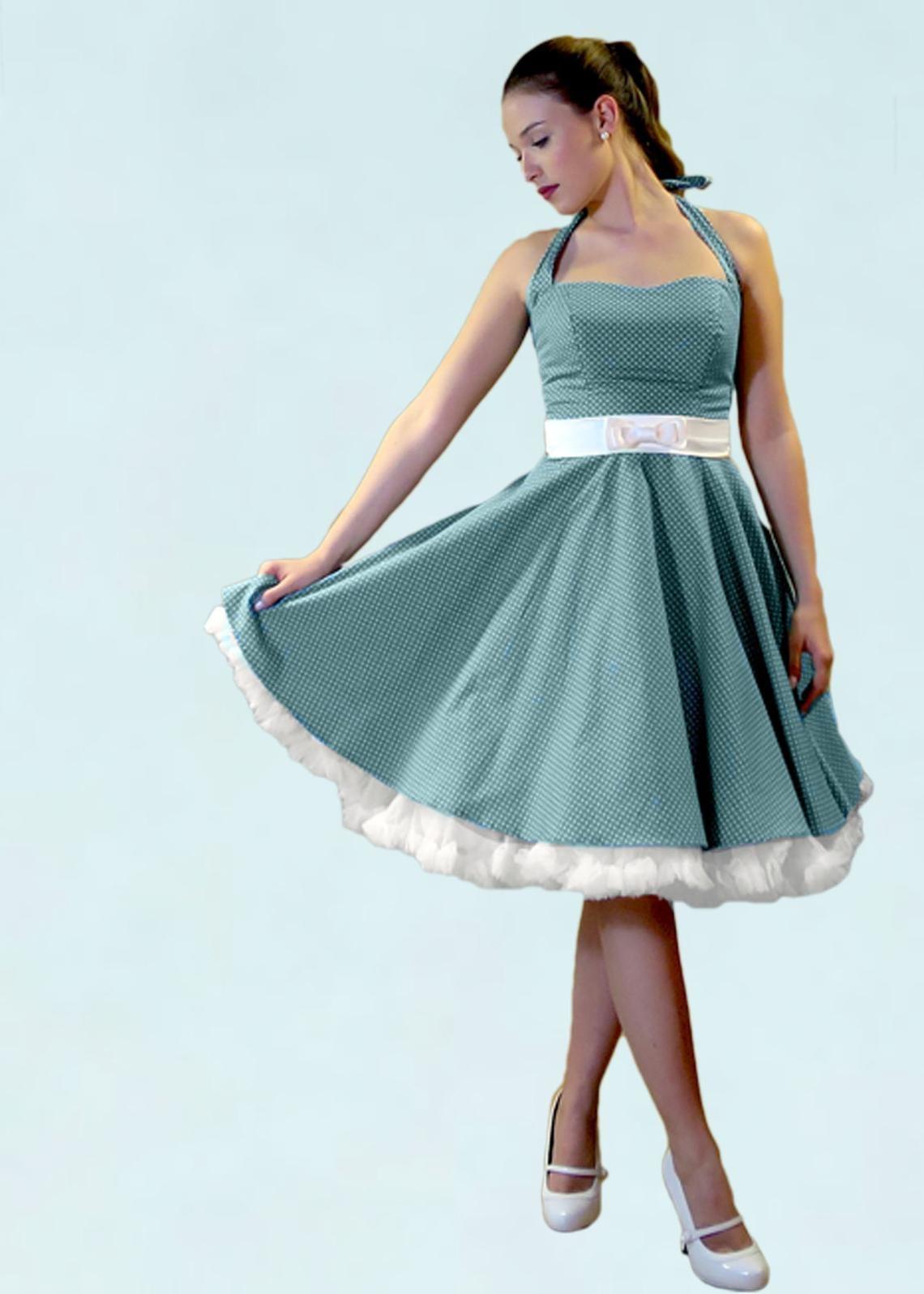 17er Jahre Kleid – türkis