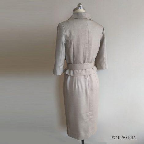60er Jahre Kostüm inspiriert von Audrey Hepburn beige