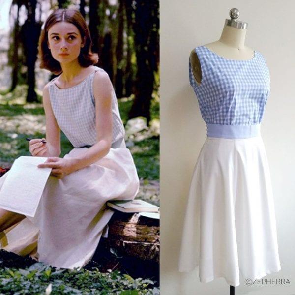 "Audrey Hepburn Outfit – Top und Tellerrock aus ""The Nuns Story"""