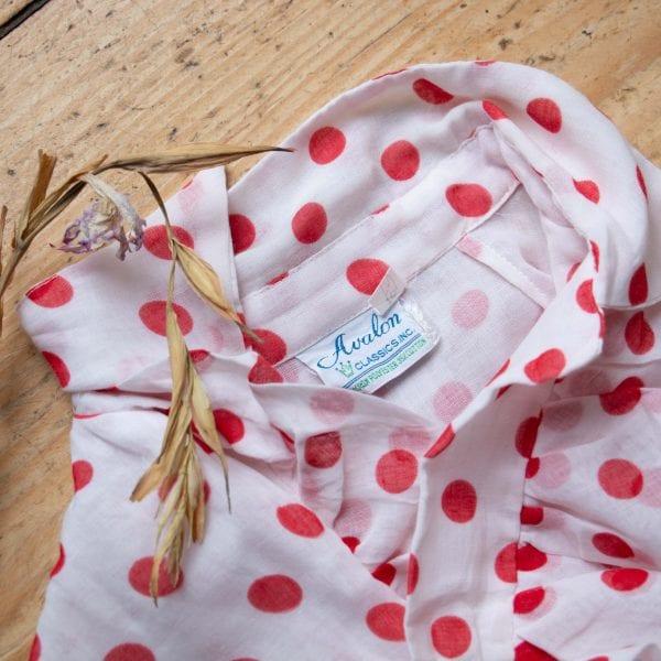Rotes Vintagekleid mit Pünktchen, 50er Jahre Kleid