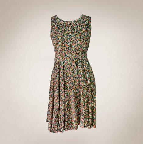 Frau Lux Vintage – geblümtes Sommerkleidchen